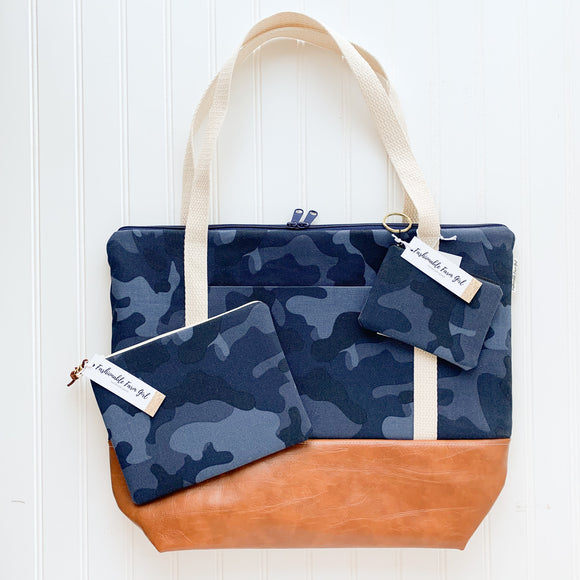 Tote Bag Bundle - Navy Camo