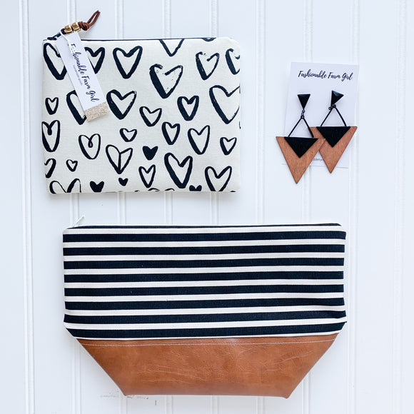 Make Up Bag Bundle - Stripe