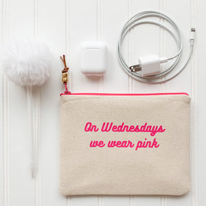 On Wednesdays we wear pink Zip Pouch