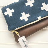 Foldover Clutch - Swiss Cross