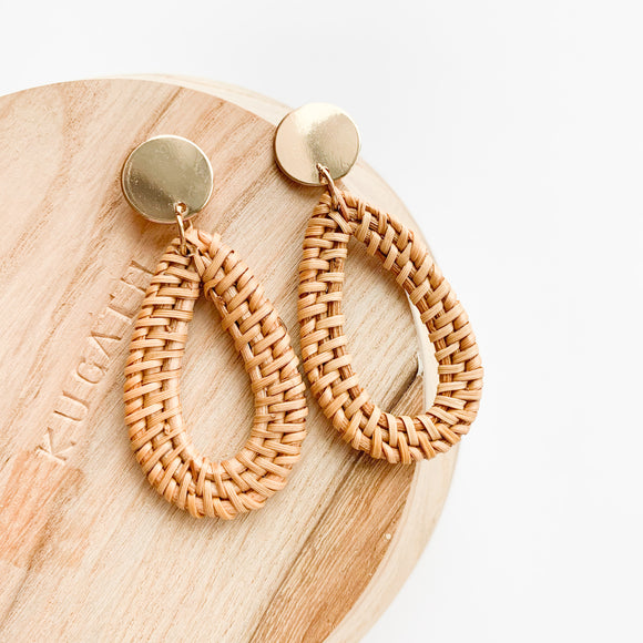 Raindrop Rattan Earrings