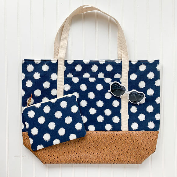 Tote Bag Bundle - Navy Dot