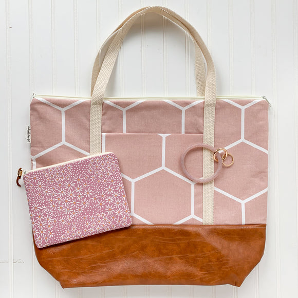 Tote Bag Bundle - Blush Honeycomb