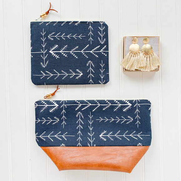 Make Up Bag Bundle - Native Navy