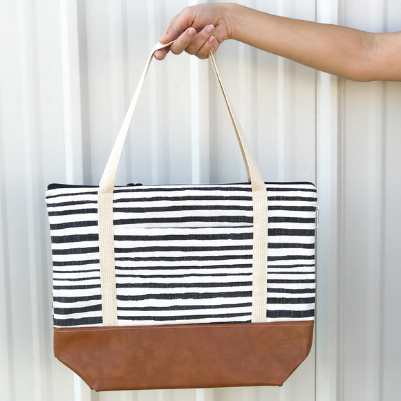 Tote Bag - Wonky Stripe