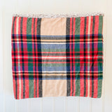 Sherpa Cowl Scarf - Flannel Plaid