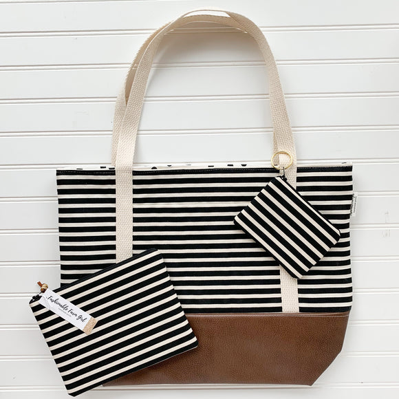 Tote Bag Bundle - Black & Ivory