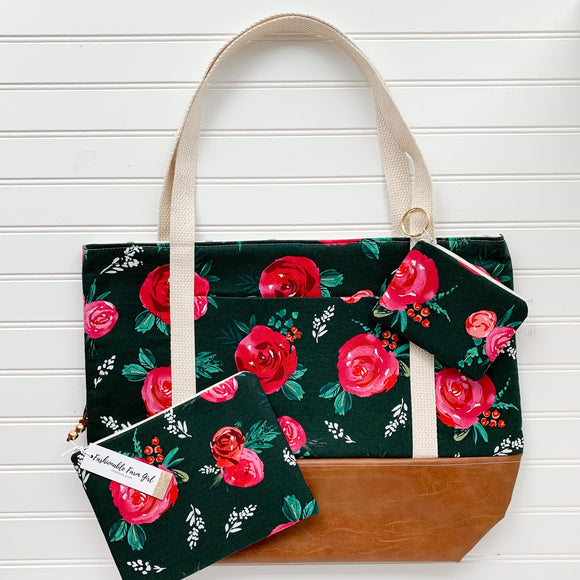 Tote Bag Bundle - Emerald Floral