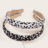 Animal Print Headband - Black & White