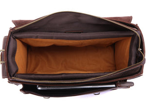 Camera Bag for Shoulder Moselle Brest, Natural Leather, Crazy Horse