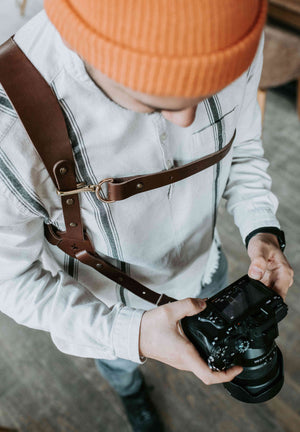 Single Camera Strap | Leather Camera Strap | Single Body Camera Strap