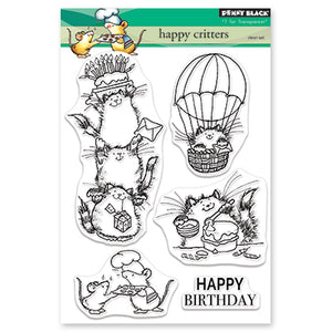 Penny Black Happy Critters Stamp Set | Serendipity Craft Boutique