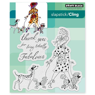 Penny Black Totally Fabulous Stamp Set | Serendipity Craft Boutique