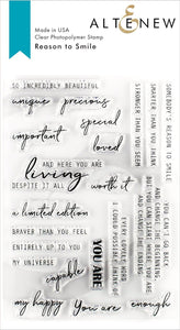 Altenew Reason to Smile Stamp Set| Serendipity Craft Boutique