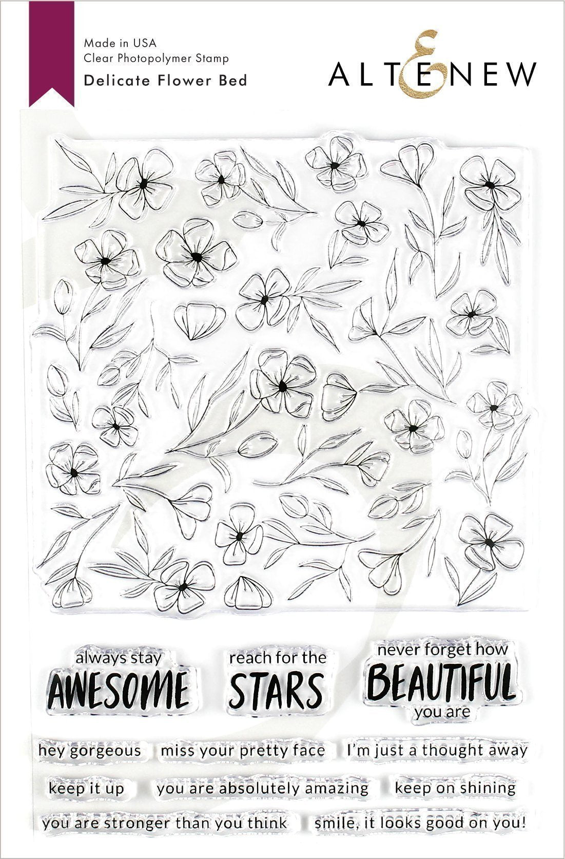 Altenew Delicate Flower Bed Stamp Set| Serendipity Craft Boutique