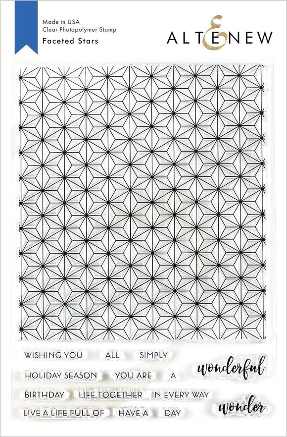 Altenew Faceted Stars Stamp Set | Serendipity Craft Boutique
