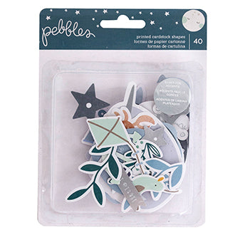 Pebbles Ephemera Night Night - Boy | Serendipity Craft Boutique