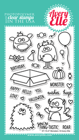 Avery Elle Monsters Stamp Set | Serendipity Craft Boutique