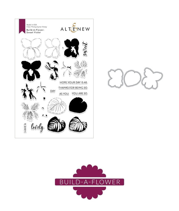 Altenew Build-A-Flower: Sweet Violet  Stamp Set | Serendipity Craft Boutique