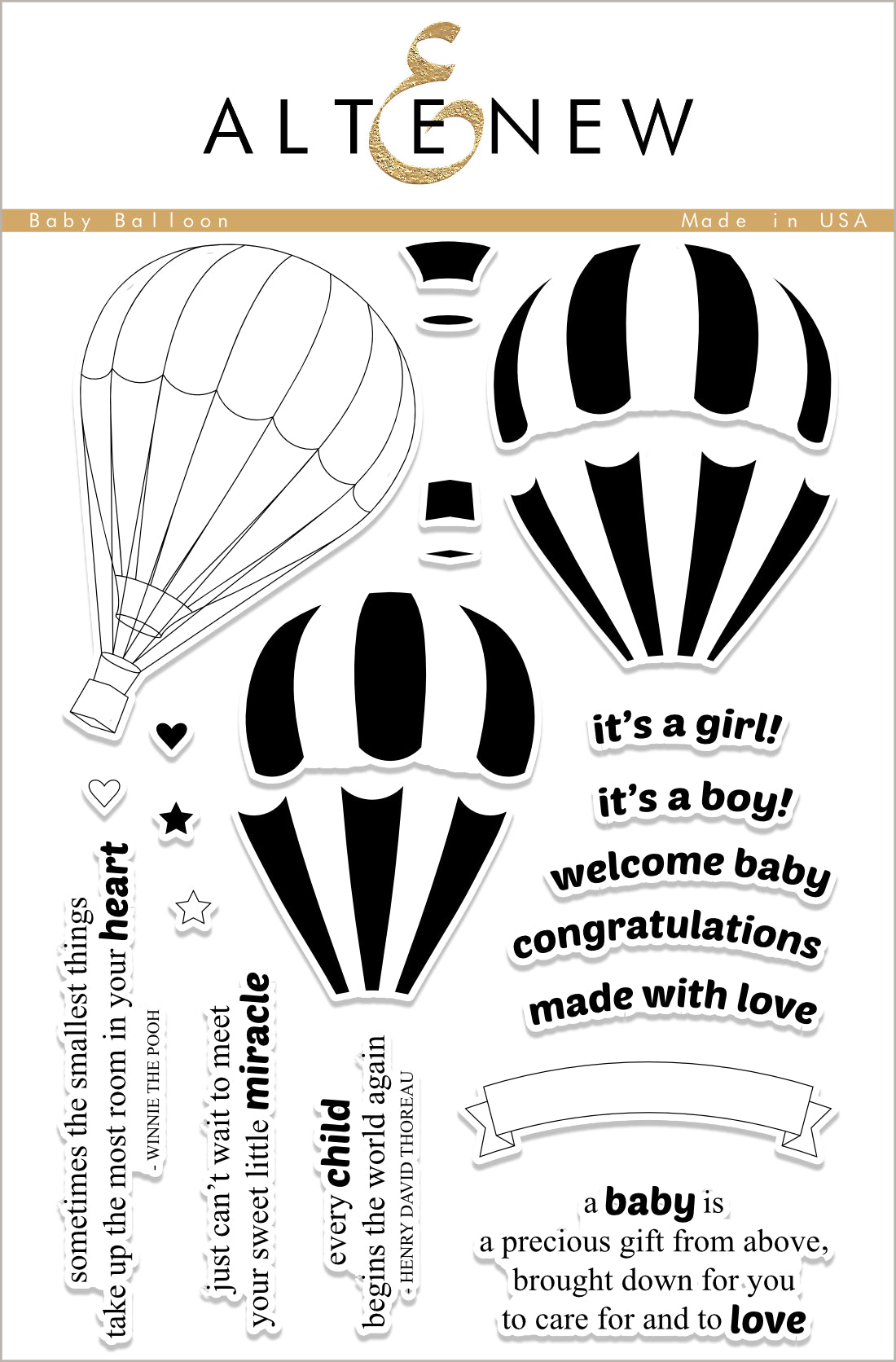 Altenew Baby Balloon Stamp Set | Serendipity Craft Boutique