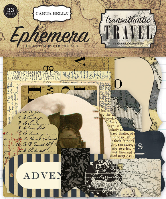 Echo Park Transatlantic Travel Ephemera | Serendipity Craft Boutique