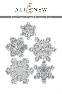 Altenew  Layered Snowflakes Die Set | Serendipity Craft Boutique