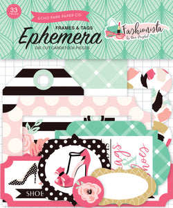 Echo Park Fashionista Frames & Tags Ephemera | Serendipity Craft Boutique
