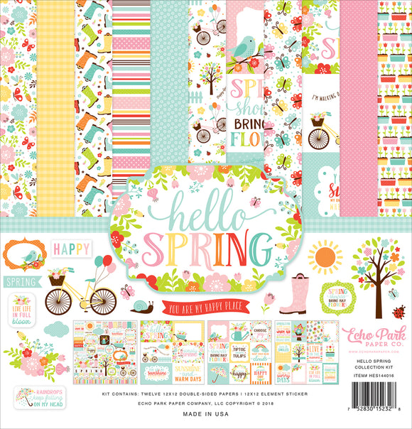 Echo Park Hello Spring Collection Kit | Serendipity Craft Boutique