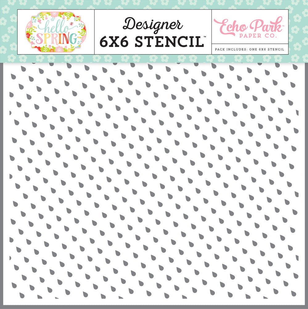 Echo Park Raindrops Stencil | Serendipity Craft Boutique
