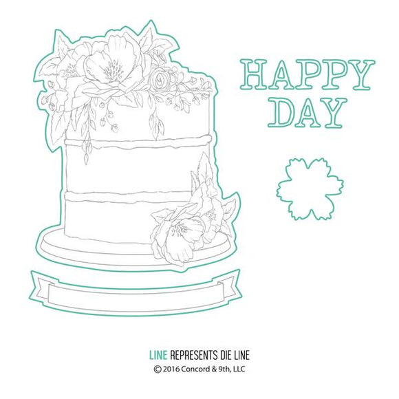 Concord & 9th Happy Day Die Set | Serendipity Craft Boutique