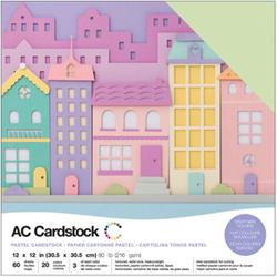 "American Crafts Variety Cardstock Pack 12""X12""  60/pkg- Pastels 