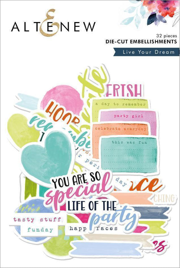 Altenew Live Your Dream Die-Cut Embellishments | Serendipity Craft Boutique