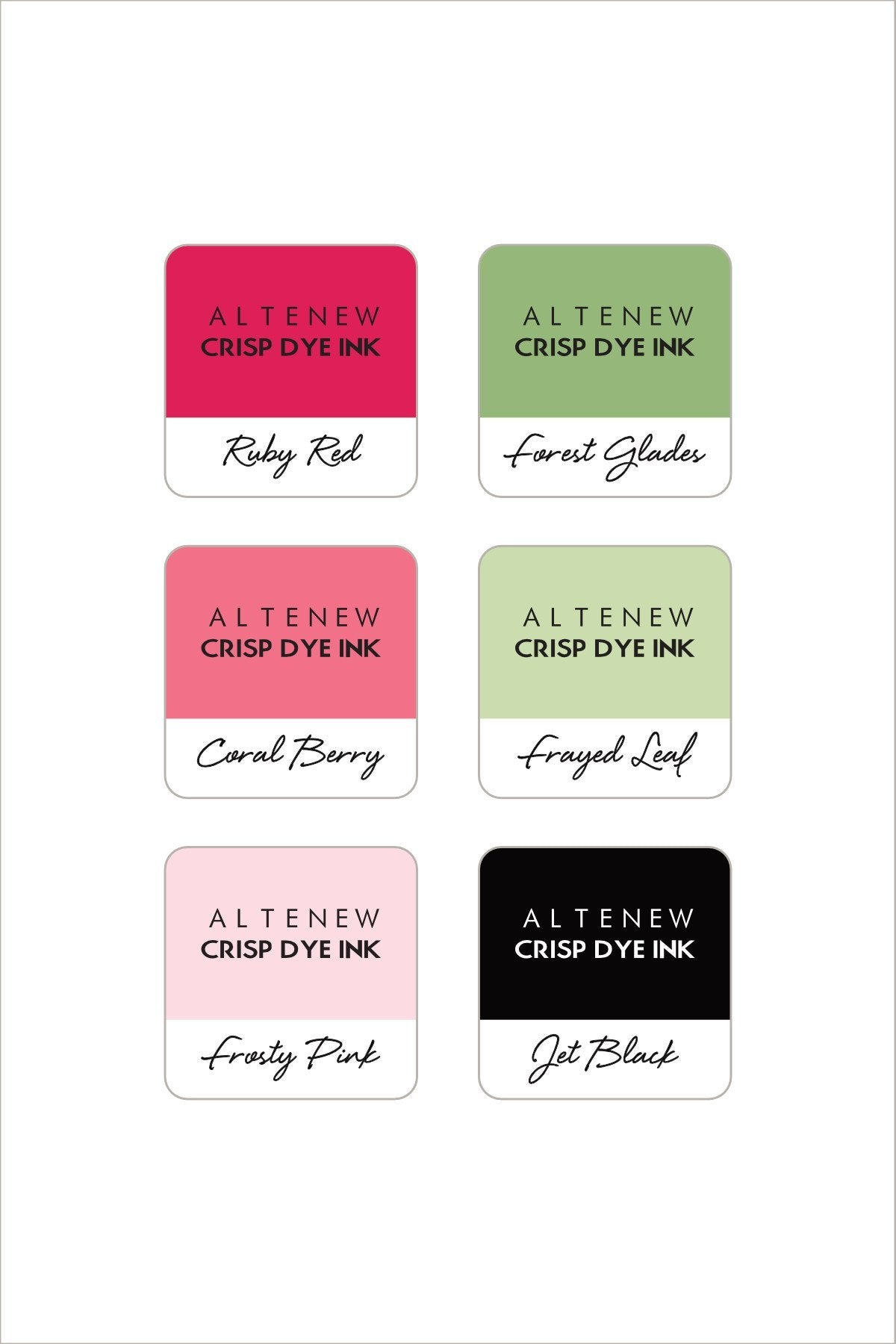 Altenew Floral 6 Mini Cube Ink Set  | Serendipity Craft Boutique