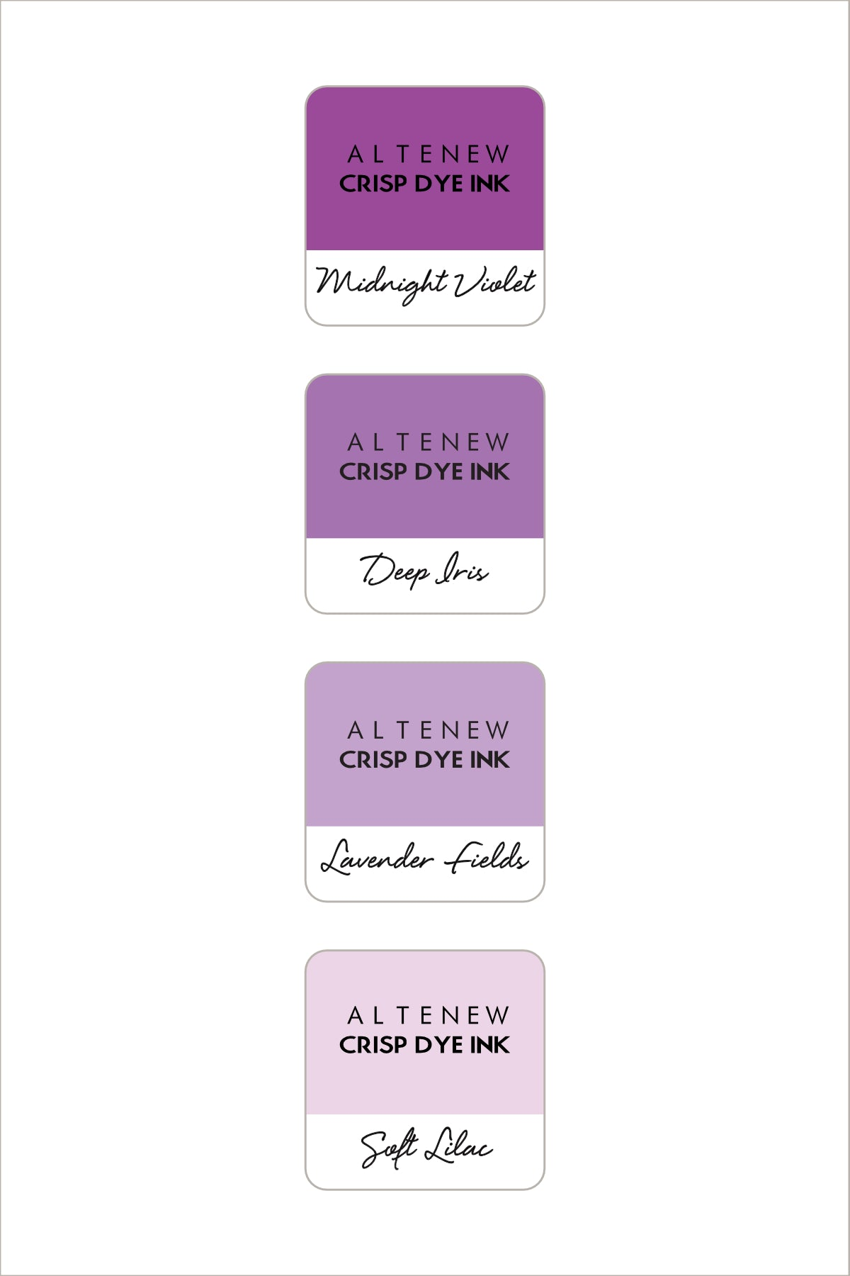 Altenew Shades of Purple Mini Ink Cube Set | Serendipity Craft Boutique