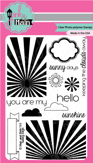 Pink and Main Sunny Days Stamp Set | Serendipity Craft Boutique
