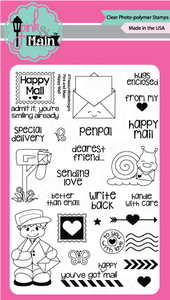 Pink & Main Happy Mail Stamp Set | Serendipity Craft Boutique