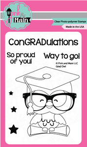 Pink & Main Grad Owl Stamp Set | Serendipity Craft Boutique