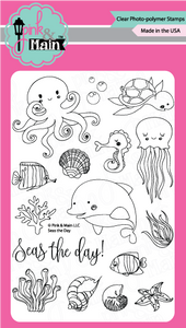 Pink & Main Seas The Day Stamp Set | Serendipity Craft Boutique
