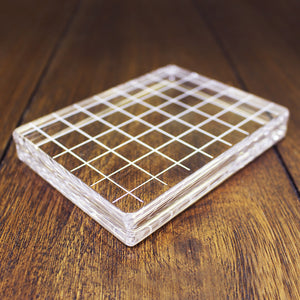 Catherine Pooler Large Rectangle Acrylic Grid Stamping Block 3-1/4 x 4-1/4""