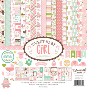 Echo Park Sweet Baby Girl Collection Kit | Serendipity Craft Boutique