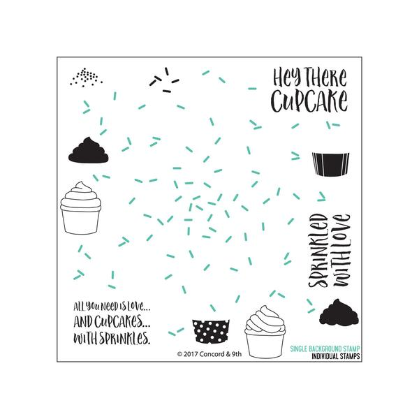 Concord & 9th Sprinkles Turnabout Stamp Set | Serendipity Craft Boutique