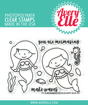Avery Elle Mermaids Stamp Set | Serendipity Craft Boutique