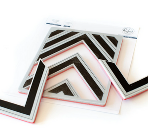 Pink Fresh Studio Pop out: Nested Chevron Stamp Set | Serendipity Craft Boutique
