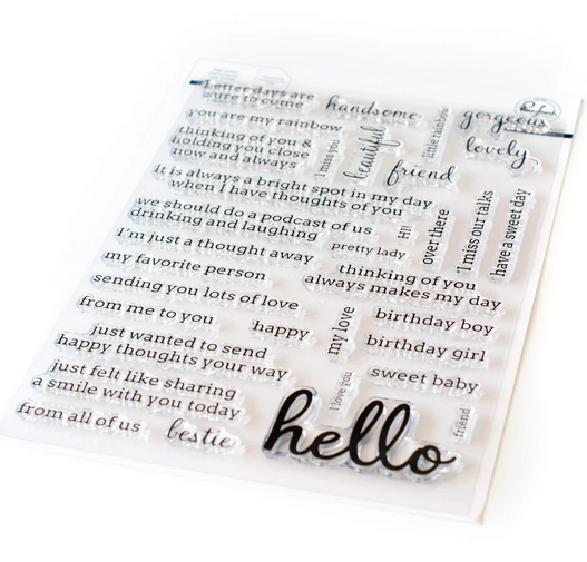 Pink Fresh Studio: Simply Sentiments - Hello stamp set | Serendipity Craft Boutique