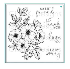 Gina K Designs Wild Roses Stamp Set | Serendipity Craft Boutique