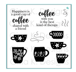 Gina K Designs Coffee Therapy Stamp Set | Serendipity Craft Boutique