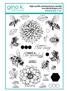 Gina K Designs Beautiful Bees Stamp Set | Serendipity Craft Boutique