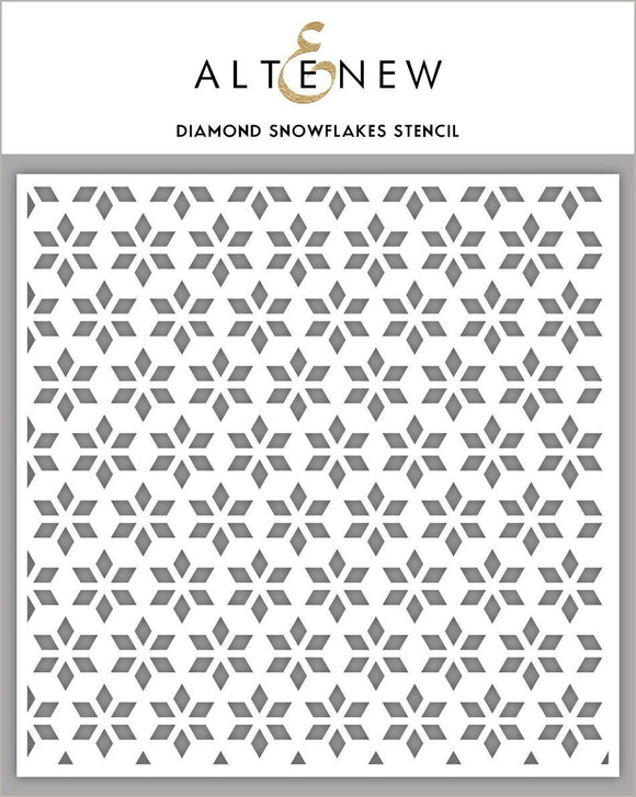 Altenew Diamond Snowflakes Stencil | Serendipity Craft Boutique