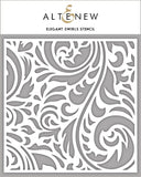 Altenew Elegant Swirls Stencil | Serendipity Craft Boutique