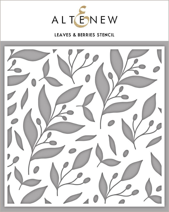Altenew Leaves & Berries Stencil  | Serendipity Craft Boutique